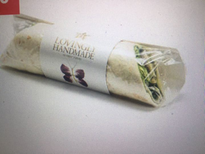 Avocado & herb salad wrap from PRET