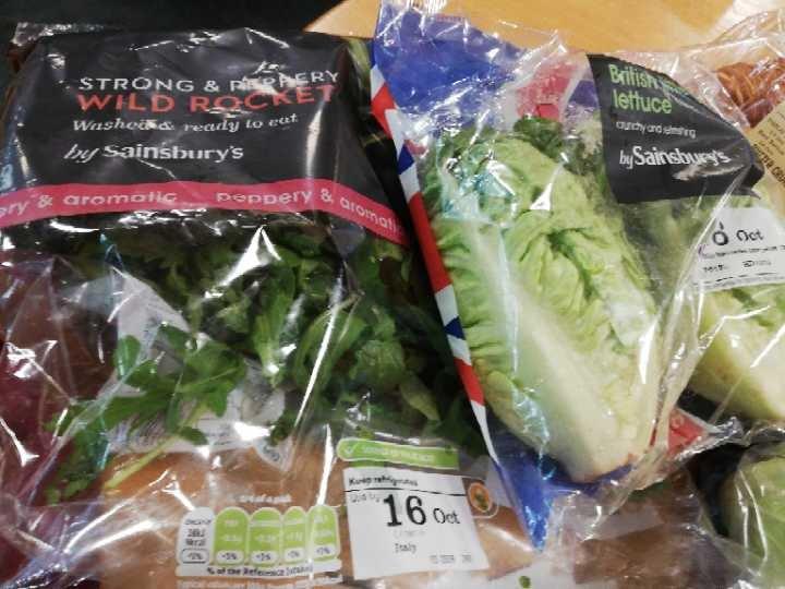 Wild Rocket and Little Gem Lettuce