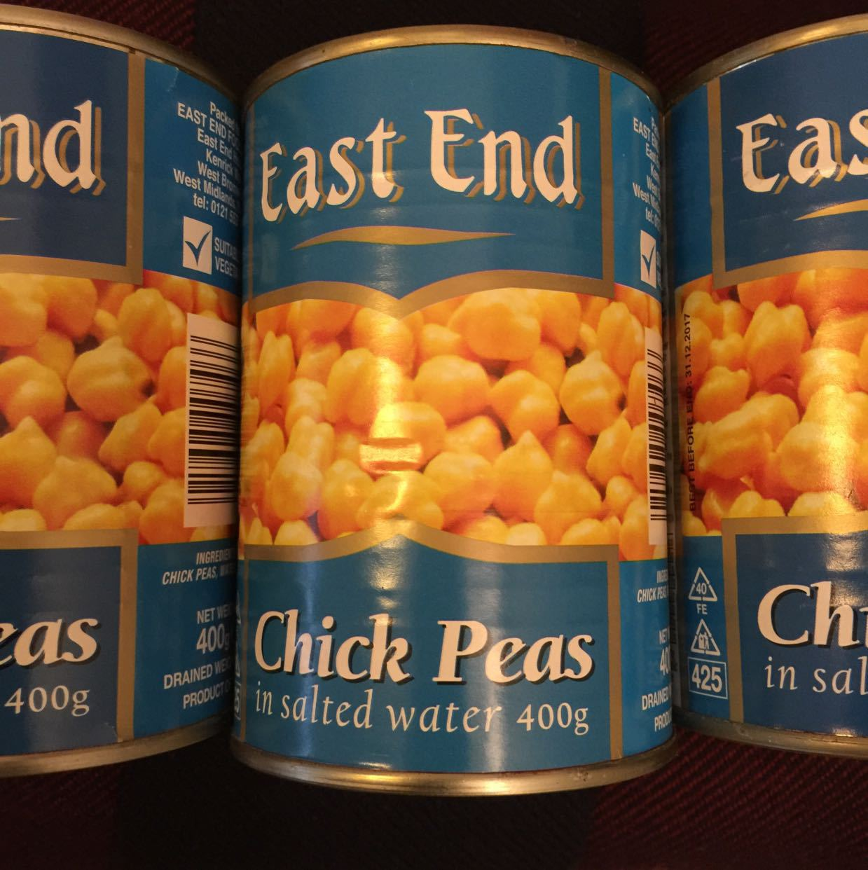 Chickpeas 3 cans