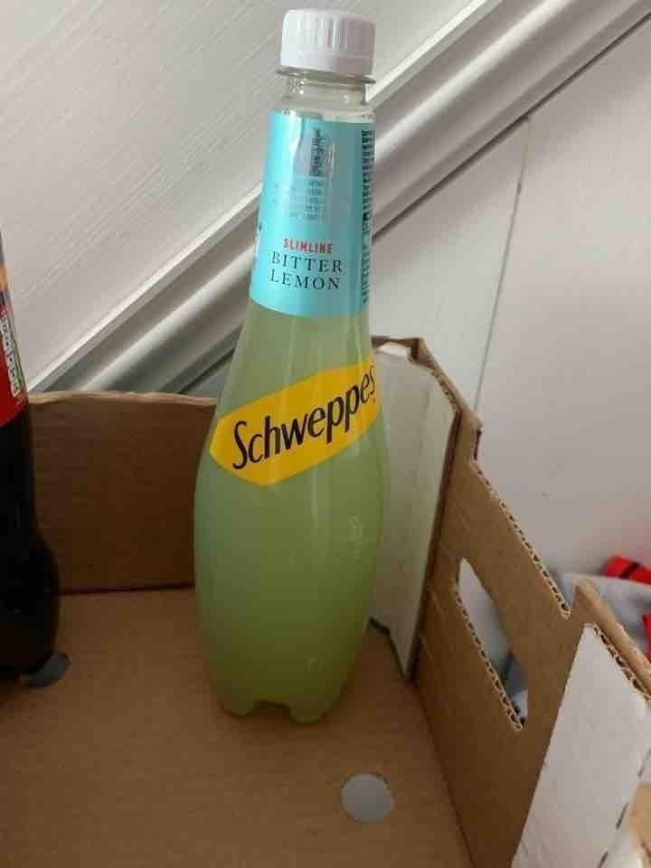Large bottles of butter lemon drink