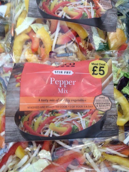 Stir fry. Pepper mix