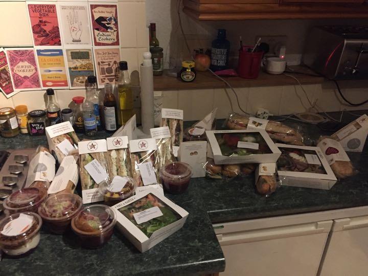 Pret sandwiches and yogurt pots