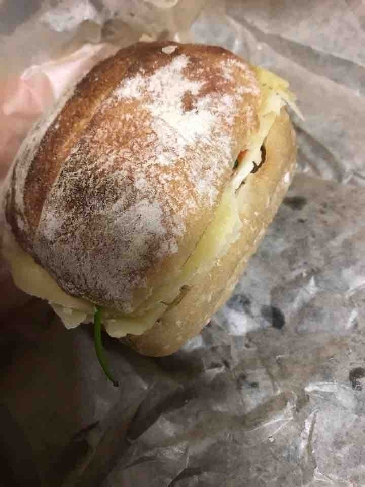 2 x fresh sourdough sandwich with cheese, from il Caffe 4/2