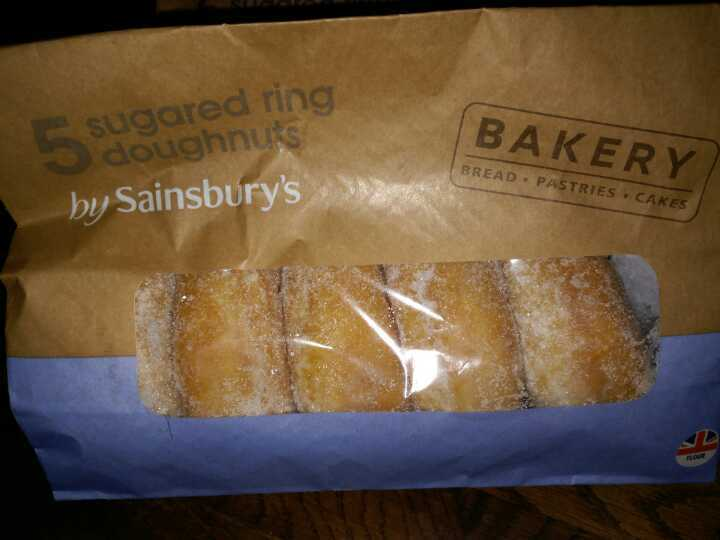 Sugar ring doughnuts
