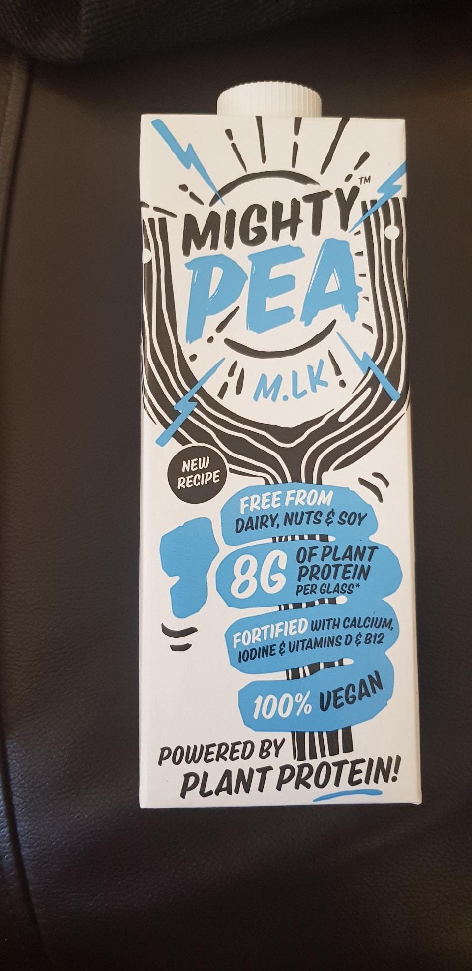 Mighty pea milk original free from dairy soy nut  . Vegan