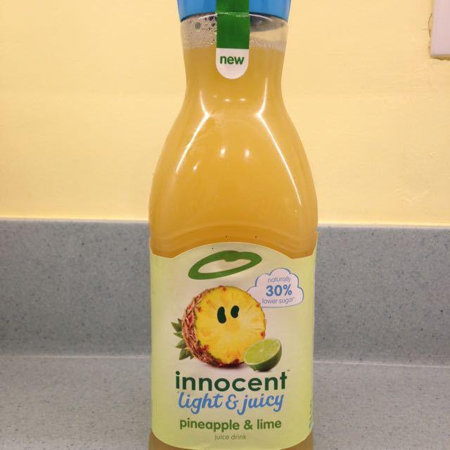 Reduced sugar pineapple juice