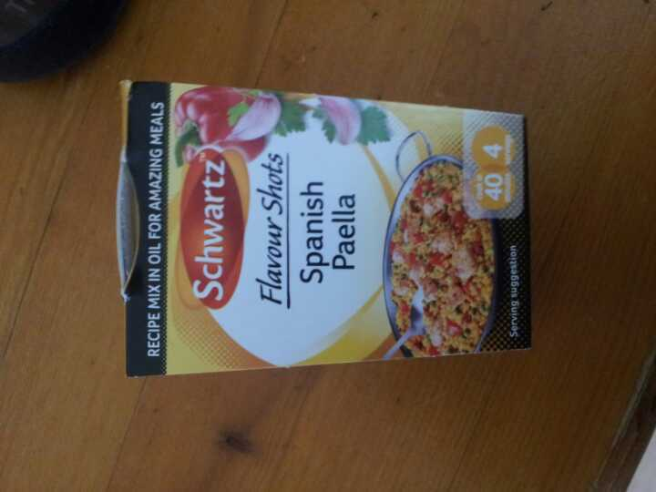 Paella flavour shot
