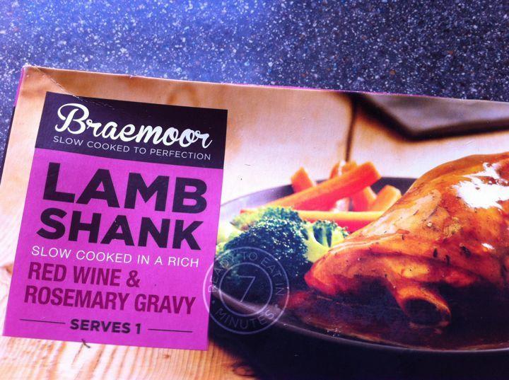 Lamb shanks prepared meal