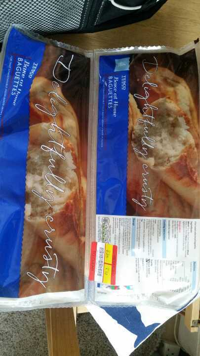 2 packs part baked baguettes from Alliance Tesco