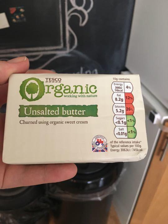 Tesco organic unsalted butter