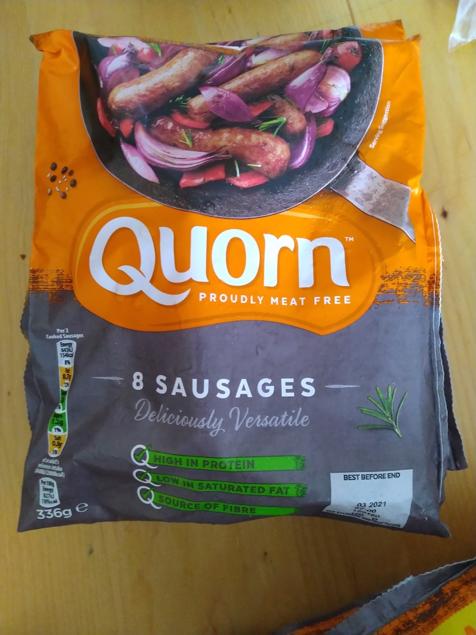 3 of 8 Quorn sausage defrosted today