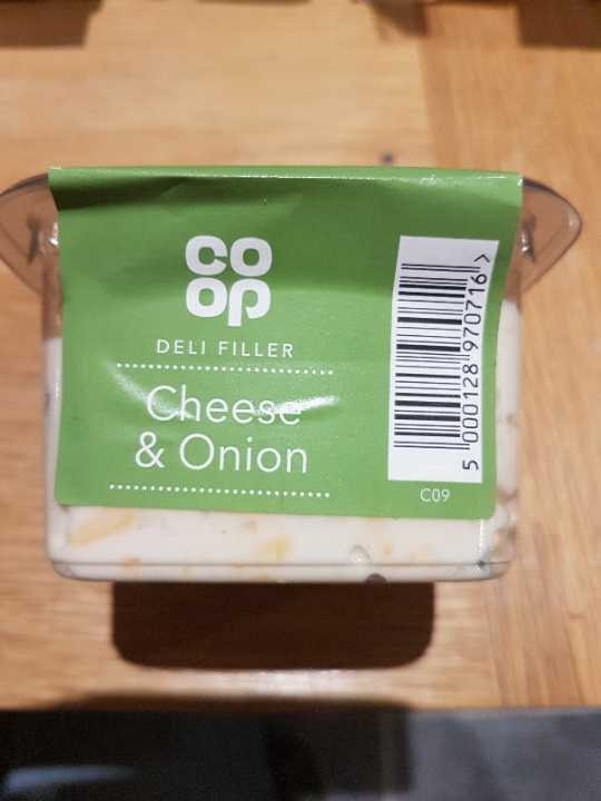 Cheese and Onion sandwich filler