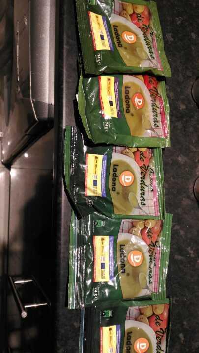 Sachets of Vegetable Cream