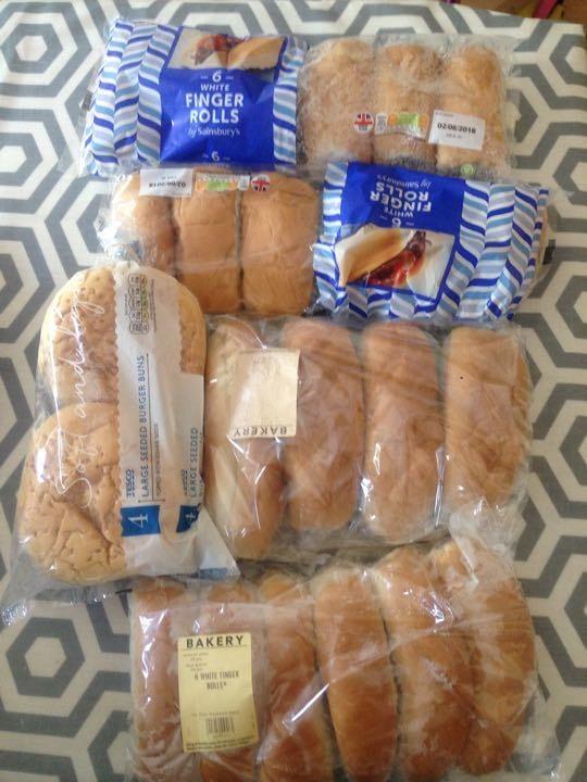 Loads of finger/burger rolls left, snap 'em up for today's  BBQ!