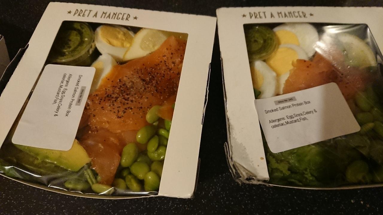 Smoked salmon protein box