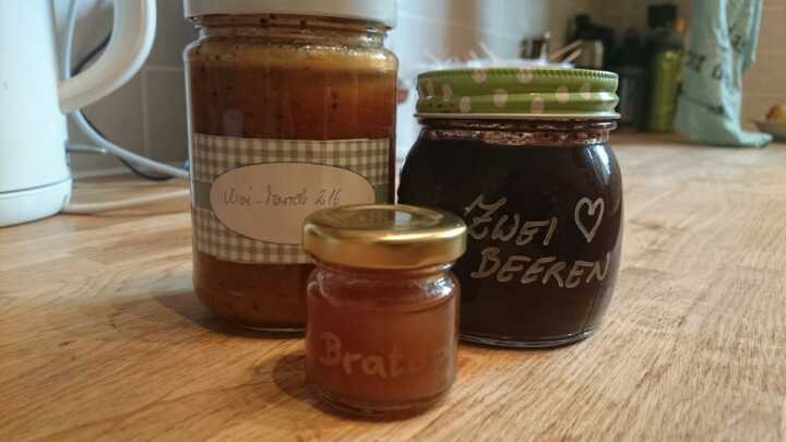 Various homemade jams