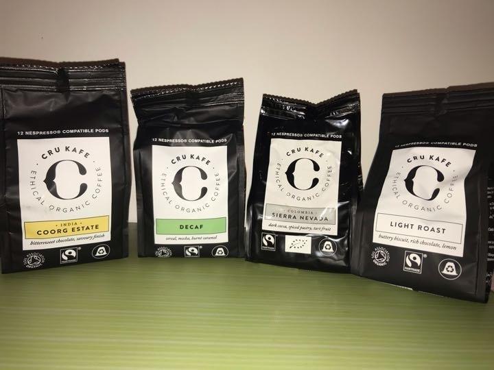 Nespresso machine compatible coffee pods