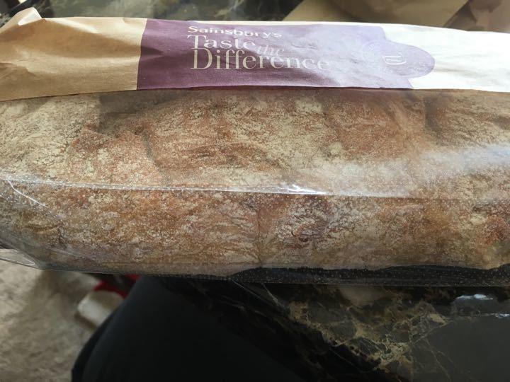 Stone baked white baguette