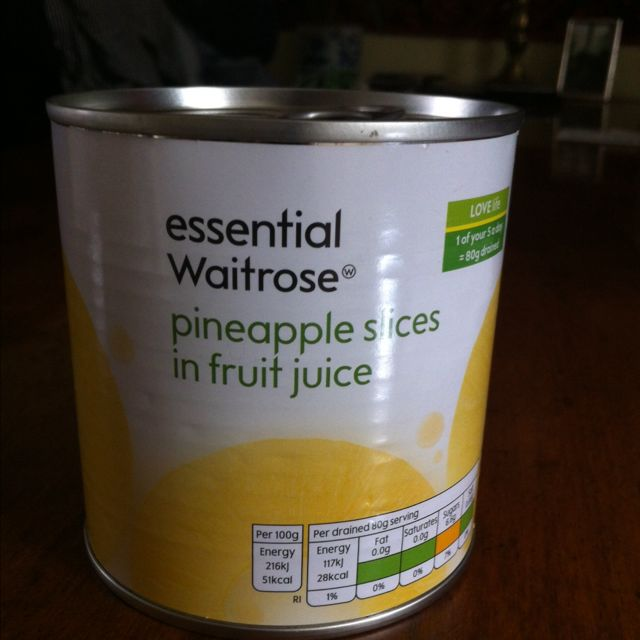 Waitrose 250g pineapple slices