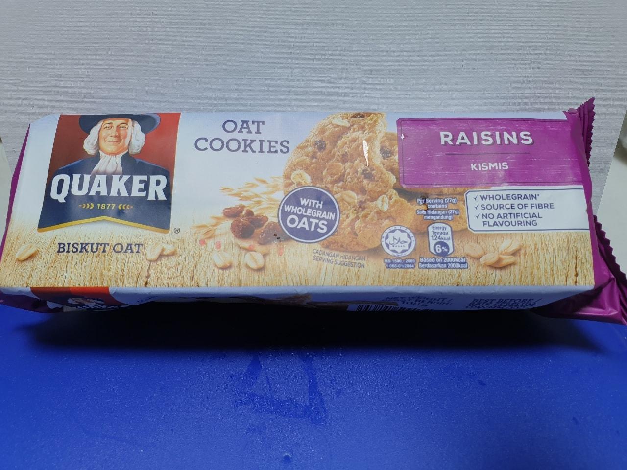 Quaker raisins oak cookies
