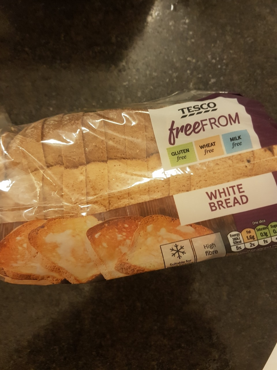 Free from white sliced