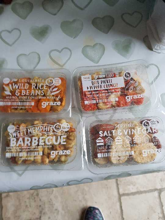 Selection of graze tubs