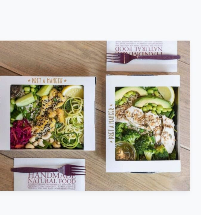 Variety of Pret salads