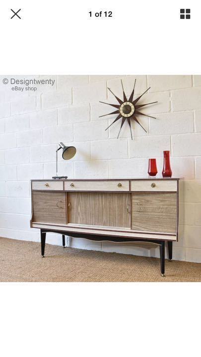 1950's sideboard for our nursing home at laurel court.we are making a '1950's lounge' for our residents.