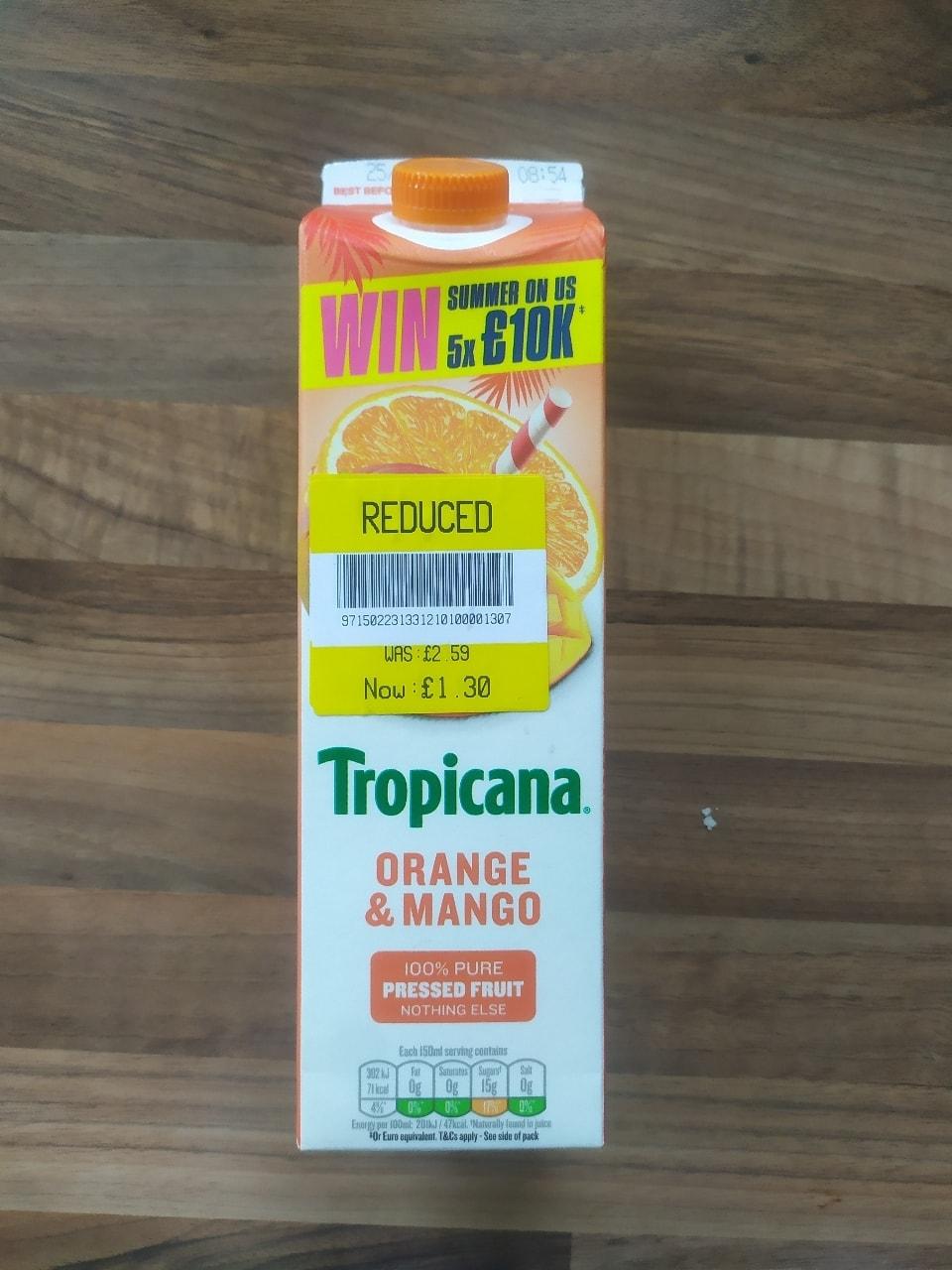 Tropicana Orange and Mango