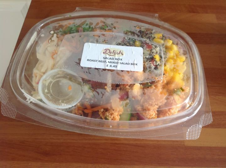 Roast beef and mixed salad box from Coopers