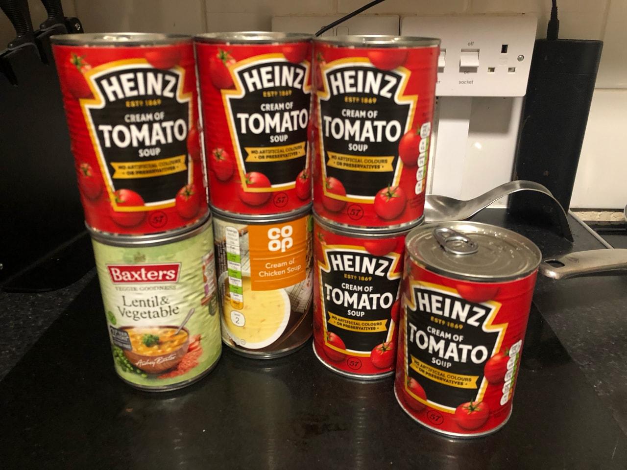 Tins of soup