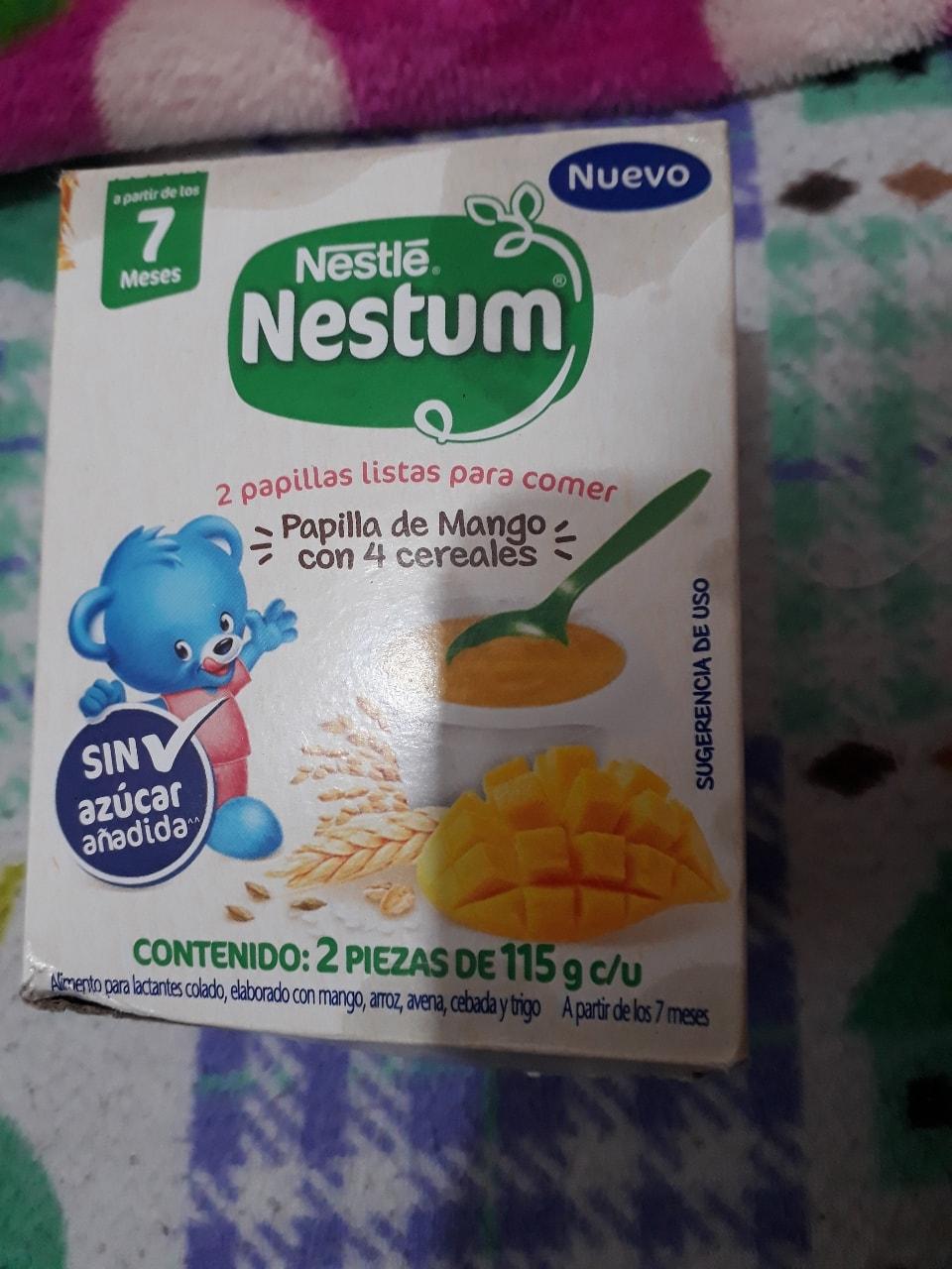 Papilla Nestle de mango para bebé