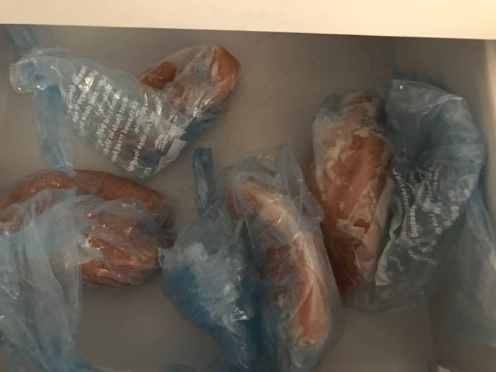 Frozen chicken breasts
