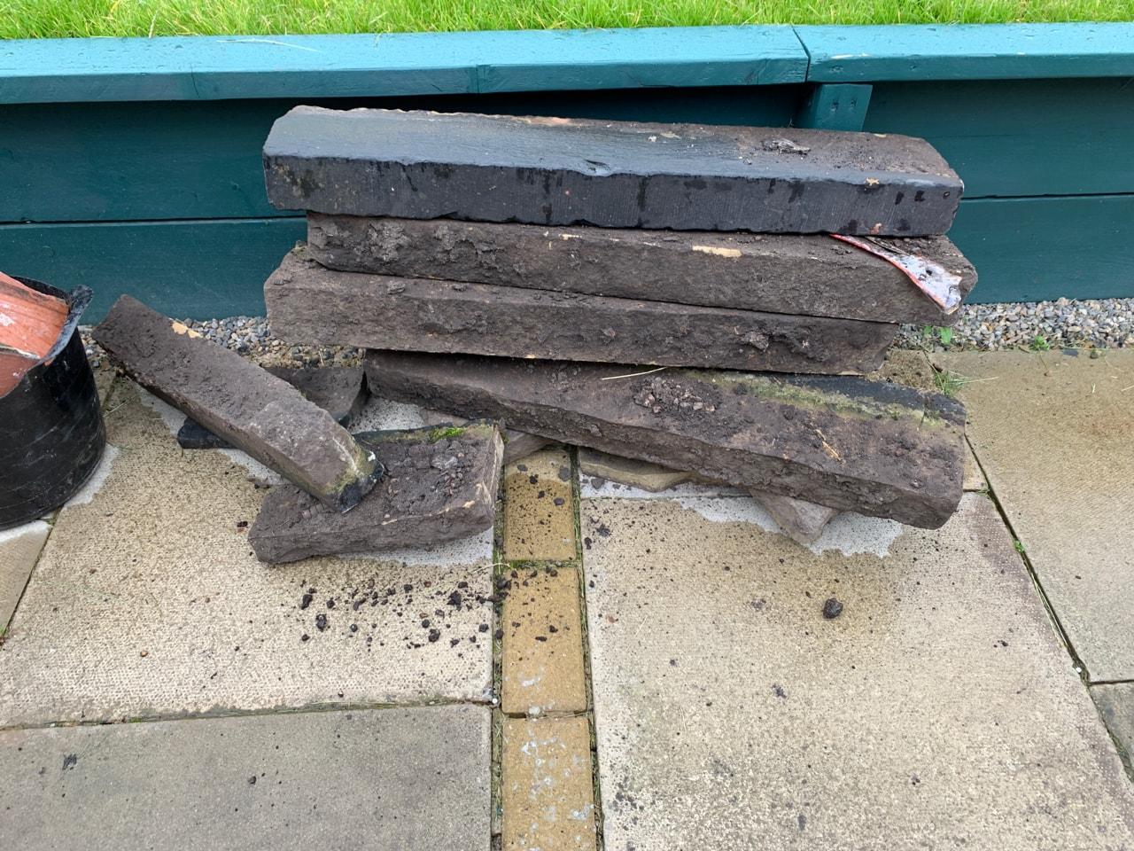 Concrete border slabs