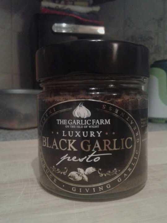 Black garlic pesto from The Garlic Farm