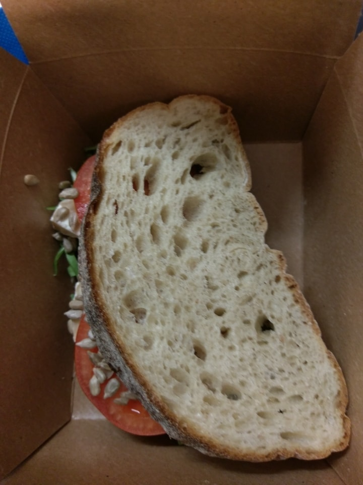 1 X sandwich with purple dressing