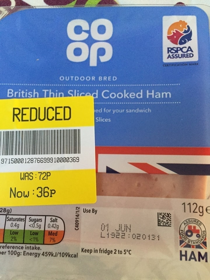 Thin sliced ham