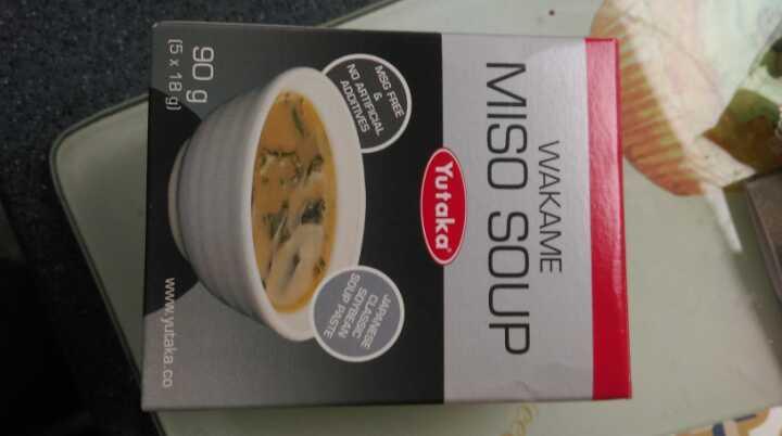 Wakame miso soup sachets