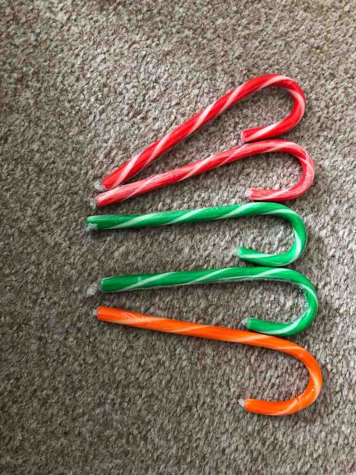 Assortment of flavoured candy canes