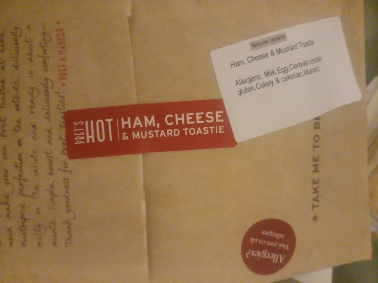 Pret a Manager Toasties