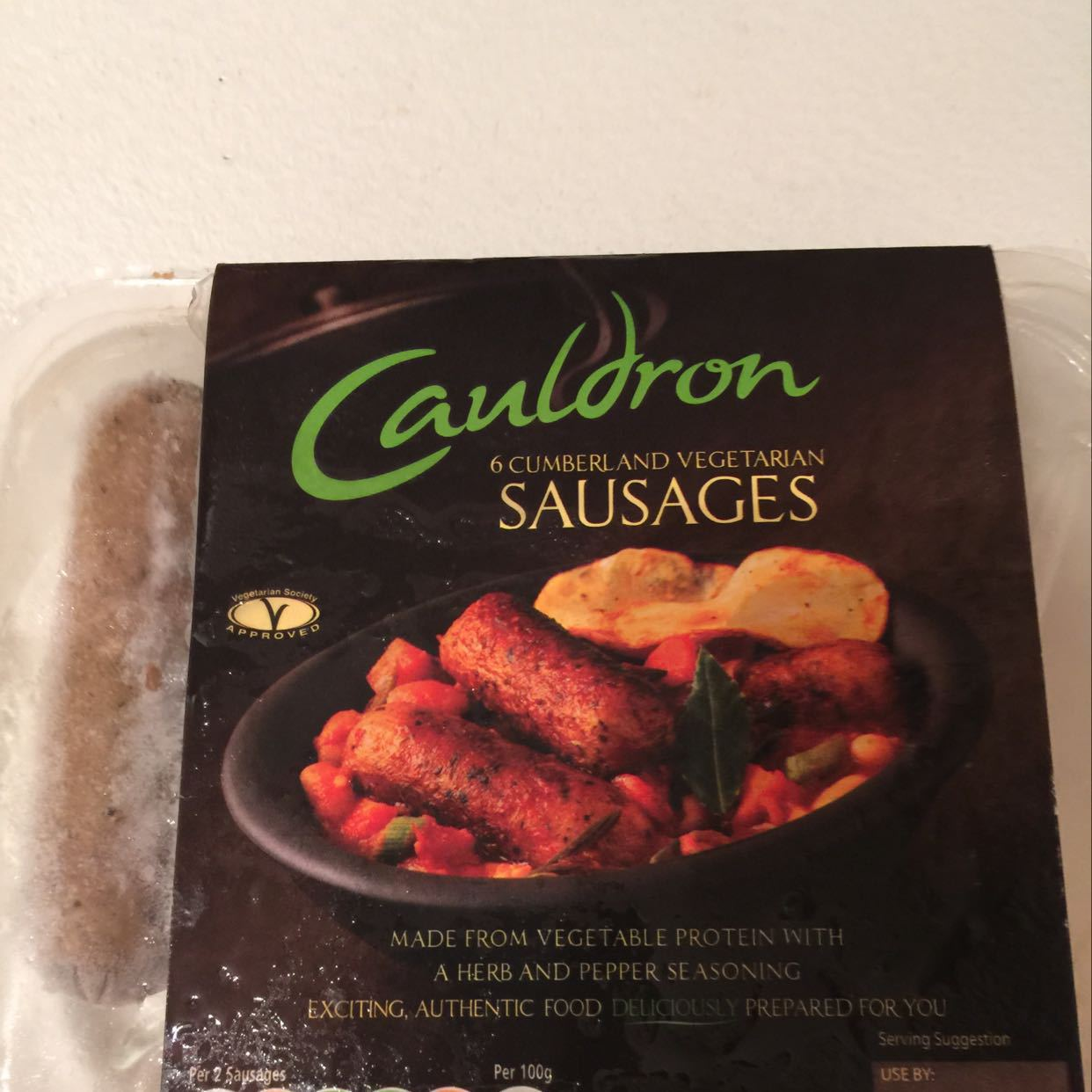 5 frozen veggie sausages