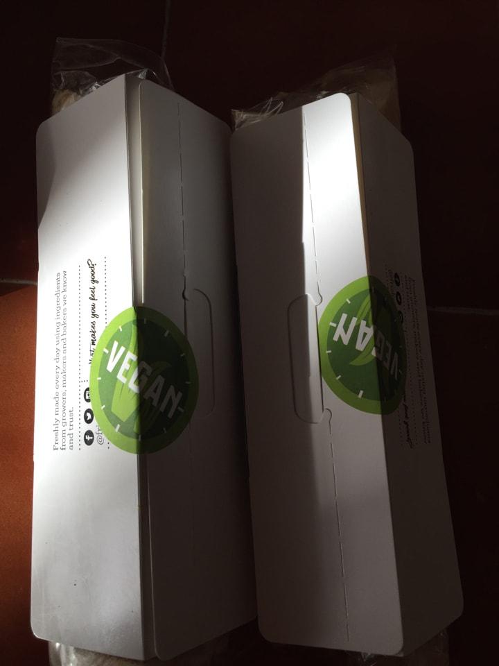 2 x vegan wraps