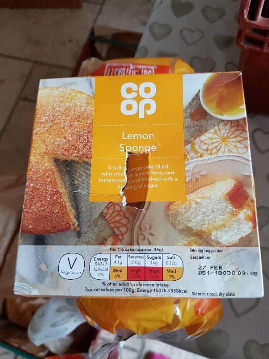 Lemon sponge
