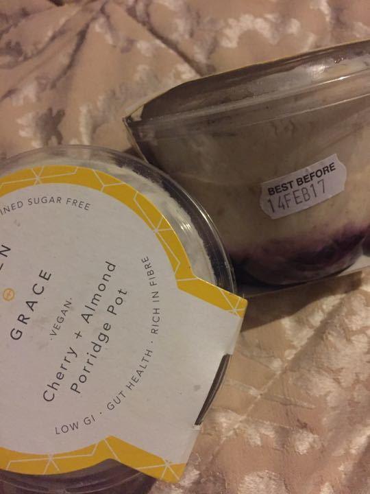 Pollen and grace cherry and almond porridge
