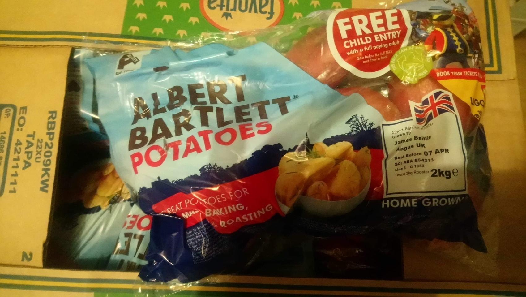 Albert bartlett potatoes