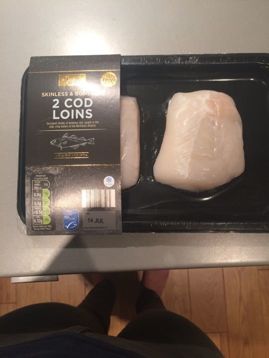 Specially selected cod loins