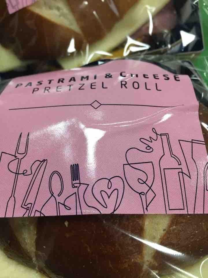 Pastrami & Cheese Pretzel Rolls