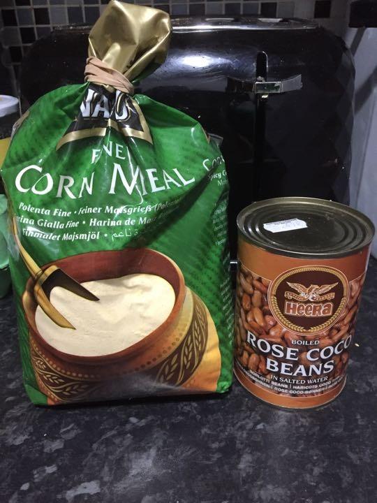 Beans and cornmeal/polenta