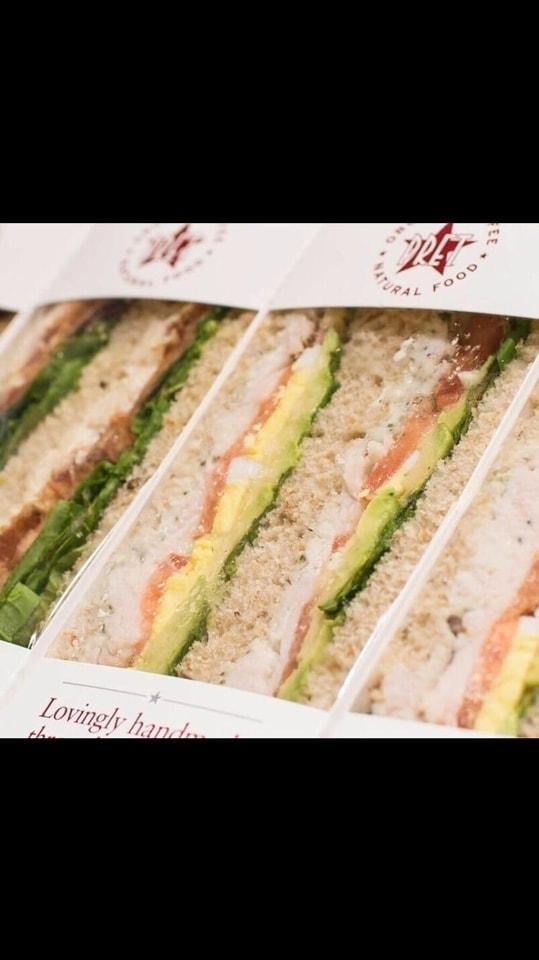 Pret food: sandwiches: tuna and cucumber x3