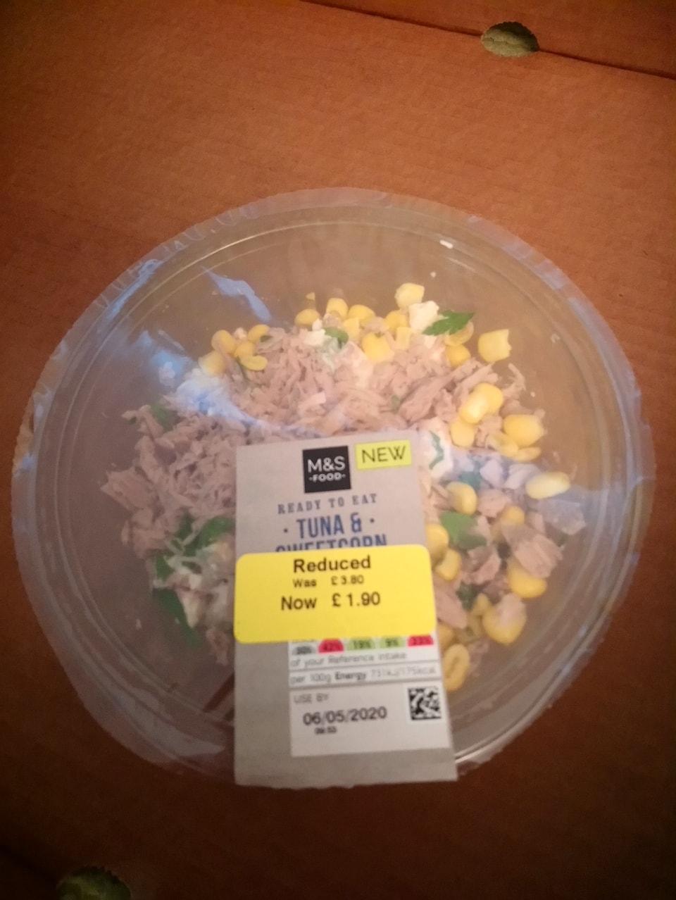 Tuna and sweetcorn pasta salad